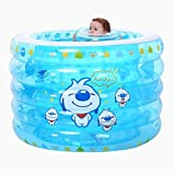 YZYC 5 Ring Inflatable Pool for Kids Infants Baby Swimming Pool Children Toys Baby Bathing Pool Paddling Pools,blue