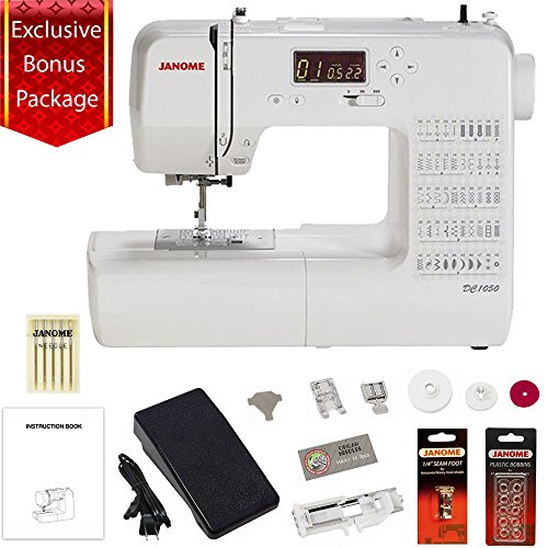 Janome DC1050 Computerized Sewing Machine w/3-Piece Bonus Kit by Janome