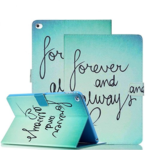Cheapest Prices! iPad Air 2 Case, Itrendz [Cute Smart Case] Forever and Always PU Leather Flip Case [Card Slot Case] [Magnetic Closure] Stand Smart Cover [Auto Sleep Wake] For Apple iPad Air 2 / iPad 6th Generation