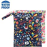 Baby Wet Dry Cloth Diaper Bags,Diapers Wet Bags Waterproof...