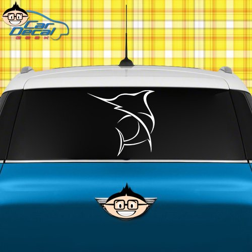 Swordfish Saltwater Fishing Vinyl Decal Sticker for Car Truck Window Laptop MacBook Wall Cooler Tumbler | Die-Cut/No Background | Multiple Sizes and Colors, 20-Inch, Silver