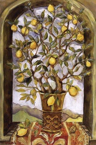 Lemon Branch Bouquet by Nicole Etienne - 24x36 Inches - Art Print Poster