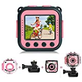 [Upgraded] PROGRACE Kids Waterproof Camera Action Video Digital Camera 1080 HD Camcorder for Girls...