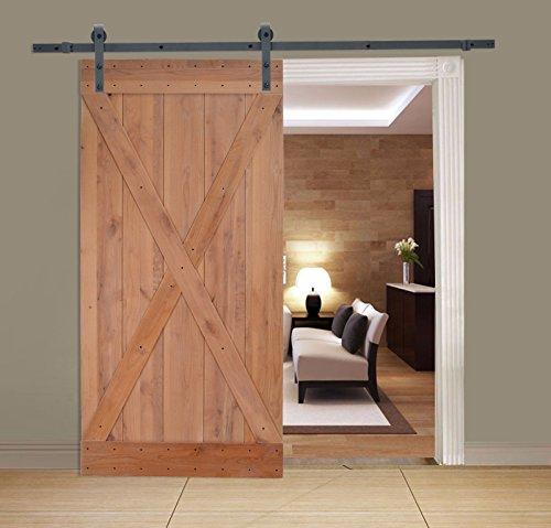 Barn Sliding Door Closet Hardware Steel Black 6 Ft. Antique Style Set Wall - Frames Gate Melbourne