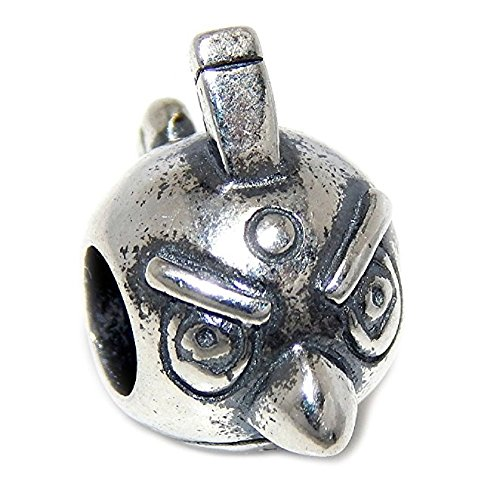 Pro Jewelry 925 Solid Sterling Silver Angry Bird Charm Bead