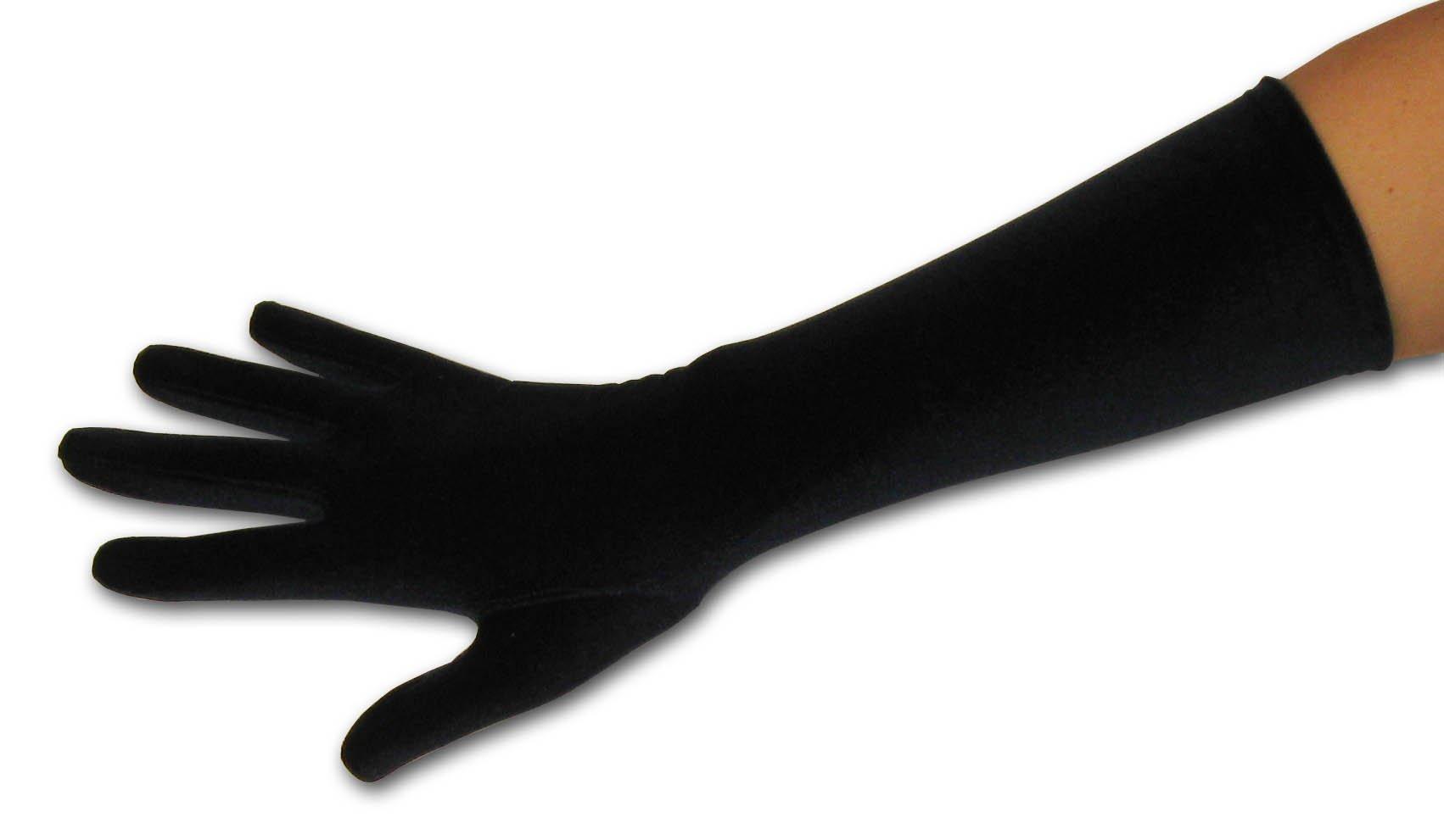 Pin Up Girl Long Length Stretch Velvet Glove Greatlookz Colors: Black