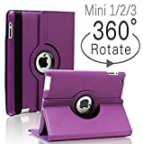 iPad Mini 1/2/3 Case - 360 Degree Rotating Stand Smart Cover Case