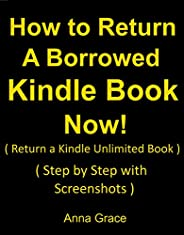 How to Return a Borrowed Kindle Book Now: Step by Step with Screenshots