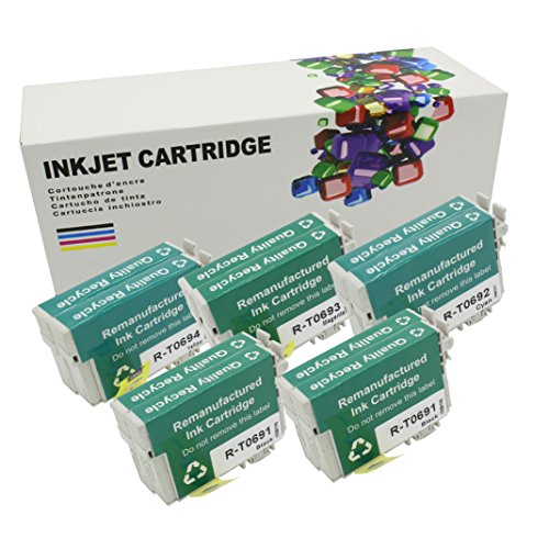 HI INK 10 Pack Remanufactured High Yield T069 ink Cartridges For Epson T069 Ink Cartridges (Epson 69 Compatible Black Ink)
