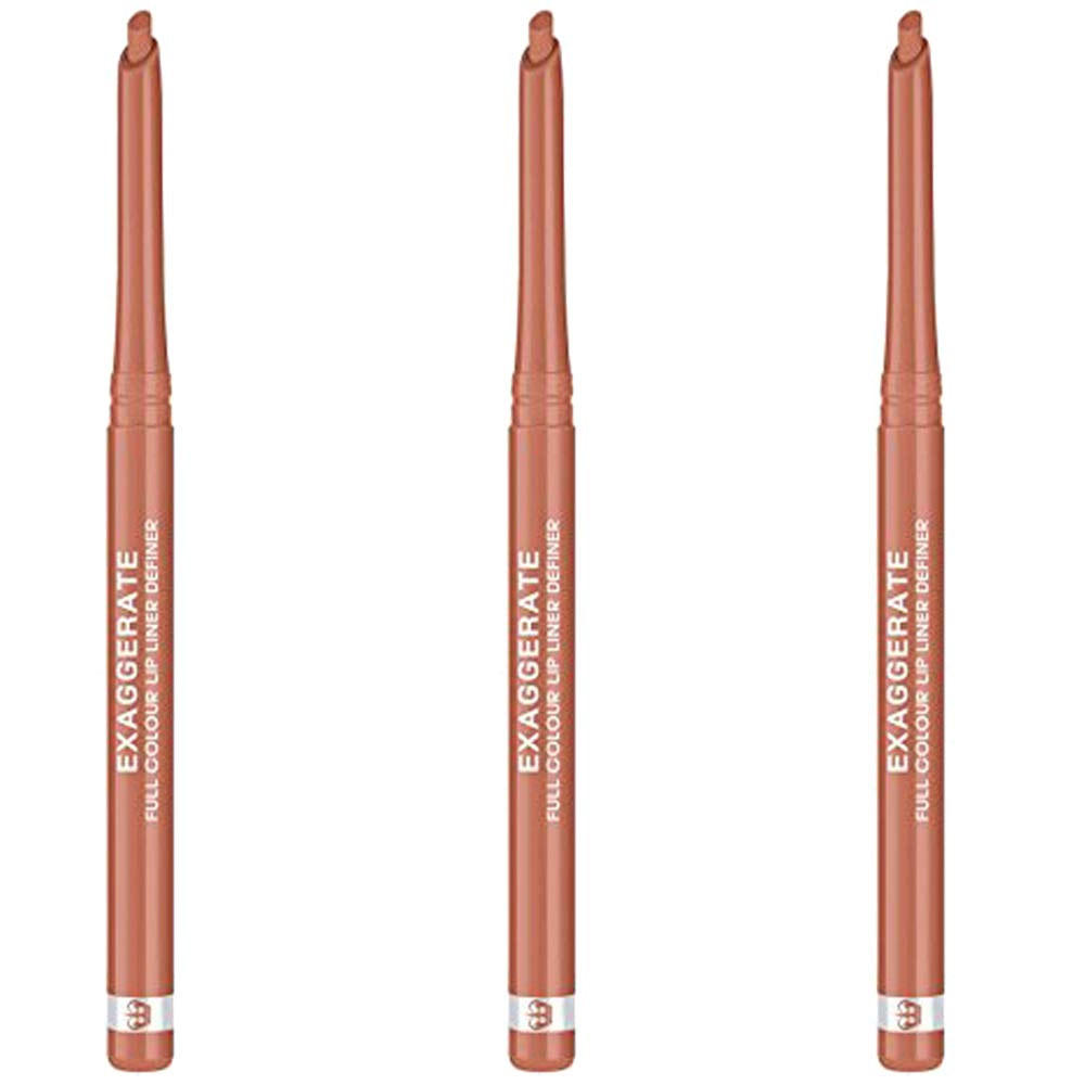 Rimmel Exaggerate Lip Liner - Innocent (Pack of 3)