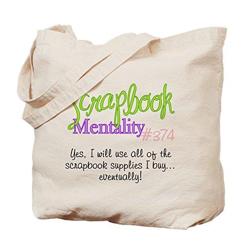 CafePress Scrapbook Mentality #374 Natural Canvas Tote Bag, Cloth Shopping Bag