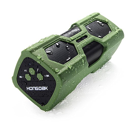 Bluetooth Speaker, Portable Wireless Speaker with Loud Stereo Sound, Bass, IPX45 Water Resistant, 12-Hours Playtime, Built-in Mic, Perfect for Home Outdoor Travel – Green