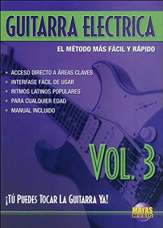 Guitarra Electrica, Vol 3: Tu Puedes Tocar La Guitarra YA! Spanish Language Edition , DVD Alemania: Amazon.es: Rogelio Maya: Cine y Series TV