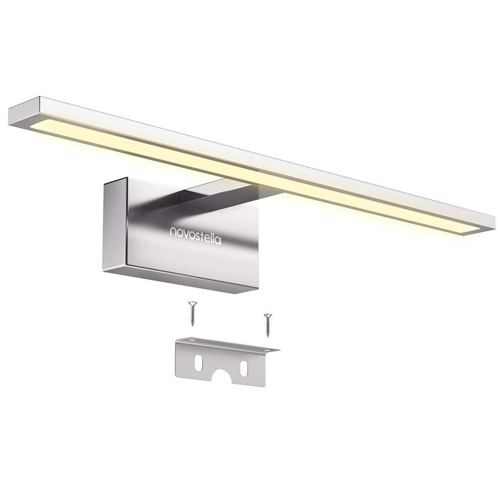 Eclairage Pour Maquillage Armoire Toilette Tableau Novostella 15W Lampe Miroir Salle de Bains LED 6000K 1200LM Etanche IP44 Blanc Froid Applique En Aluminium