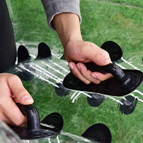 51jgjiXYlfL - Costzon Bubble Soccer Ball, Dia 5' (1.5m) Human Hamster Ball, Inflatable Bumper Ball For Kids And Adults (Black Dot)