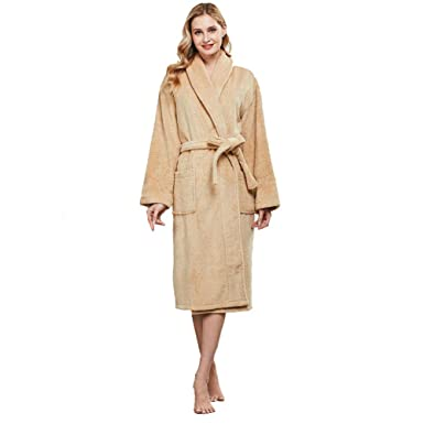 a3cc7cde3124b beryris Luxury Bathrobe for Women - Women's Terry Cloth Robe in Bamboo  Viscose,Thick Material