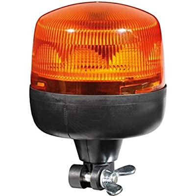 HELLA 010979011 RotaLED Flexible Mount Beacon Warning Light, Rotating Pattern, Waterproof, 12/24V, Amber: Automotive