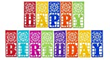 "Mexican TISSUE Papel Picado Banner ""HAPPY BIRTHDAY"" - Ideal for Mexican Theme Birthday Celebrations - Design and Colors as Pictured By Paper Full of Wishes …"
