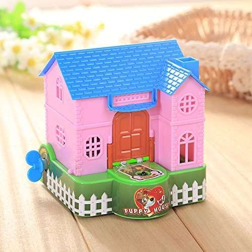 Plastic House Bank - Kicode Funny Creative Cute Plastic Piggy Bank Dog Coin Money Cash Collectible Saving Box Toy Kids Gift Automatic