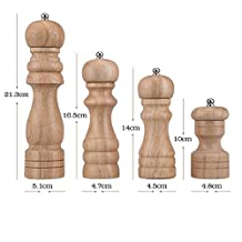 Classical Wooden Manual Pepper Mill Salt Grinder Kitchen Spice Grinding Tool, 4 inch (1pc)
