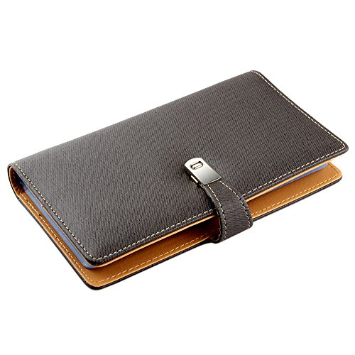 Leather business card album amazon esdrem leather business card journal name card book credit card holder wallet for 120 cards reheart Image collections