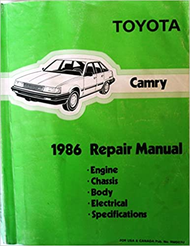 toyota camry 1986 repair manual: toyota motor corporation: amazon com: books