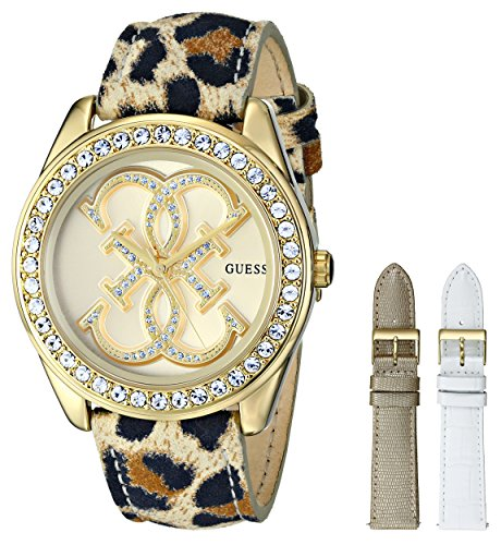 GUESS U0162L2 Women's Gold-Tone Dazzling Iconic Sport Box Set Watch