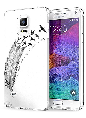 N4 Protective Cover Slim Fit Bumper Case for Samsung Galaxy Note 4 Take Those Broken Wings and Learn to Fly