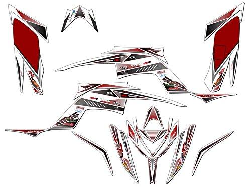 Senge Graphics 2013-2019 Yamaha Raptor 700, Surge Red Graphics Kit Senge Graphics Inc.