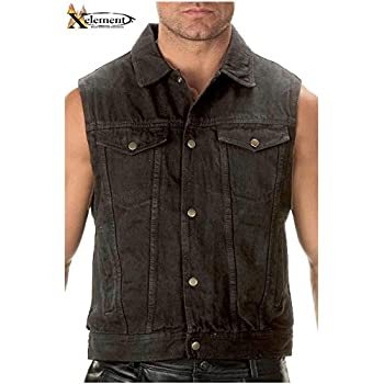 A blue or black denim motorcycle vest is a great alternative to your leather motorcycle vest. Our denim biker vests are all made from heavy denim and most feature inside .