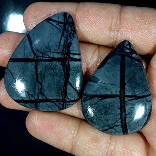 GovindStore 144.20Ct 100% Natural Picasso Jasper AAA PEAR CABOCHON LOT FINE Quality Gemstone