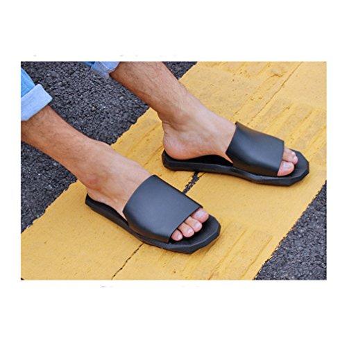 Hishoes - Zapatillas de estar por casa de Material Sintético para hombre negro