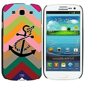 JJE Milocos ?Contrast Color Chevron Anchor Style Hard Case for Samsung Galaxy S3 i9300