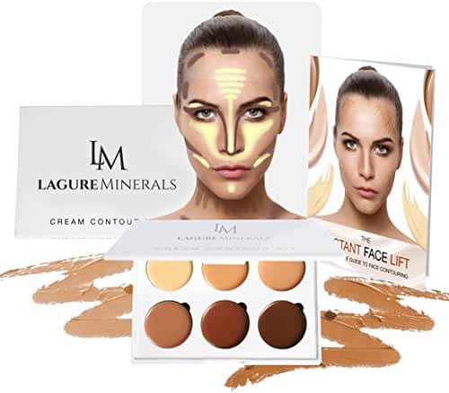 Cream Contour Kit - Best Contour Palette and Creamy Concealer with Smooth, Pigmented Cream - Step-by-Step Contour Guide Included