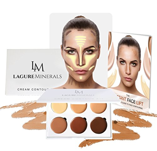 Cream Contour Kit - Premium Contouring Foundation, Highlight & Concealer for Flawless Look ()
