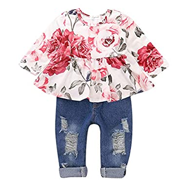 SANMIO Newborn Infant Baby Boys Girls Outfits Clothes Cute Cotton Knitted Sweater with Warm Hat Set