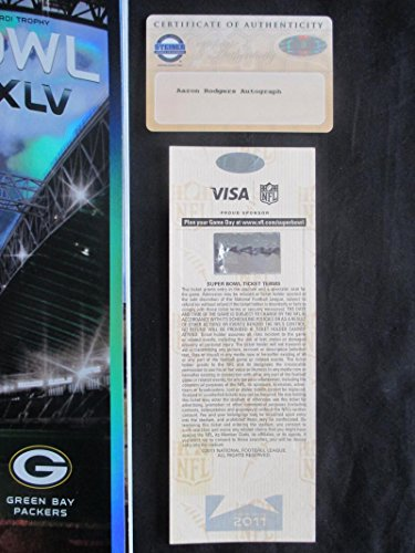 Aaron Rodgers Signed Auto Super Bowl XLV Ticket With Program Steiner COA