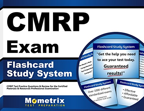 CMRP Exam Flashcard Study System: CMRP Test Practice Questions & Review for the Certified Materials & Resources Professional Examination (Cards)