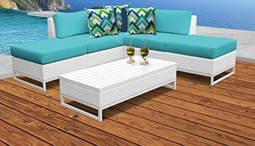 TK Classics MIAMI-06c-ARUBA Miami Seating Patio Furniture, Aruba (Miami Patio Clearance Furniture)