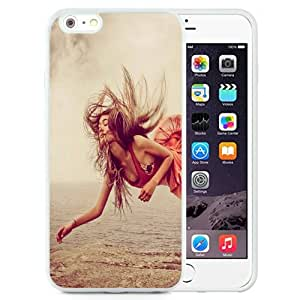 NEW Unique Custom Designed iPhone 6 Plus 5.5 Inch Phone Case With Red Dress Girl Levitation_White Phone Case