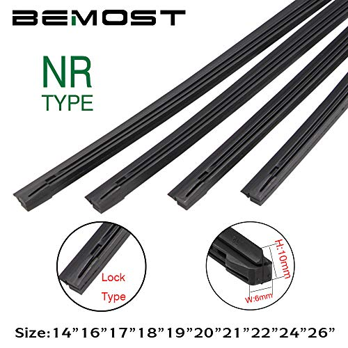 - QUALITY BEMOST Auto Car All-Season Frame Windshield Wiper Blades Refills NR Natural Rubber Strips (26