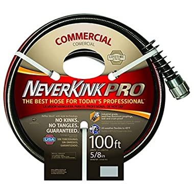 NeverKink 8844-100 Series 4000 Commercial Duty Pro Garden Hose, 5/8-Inch by 100-Feet
