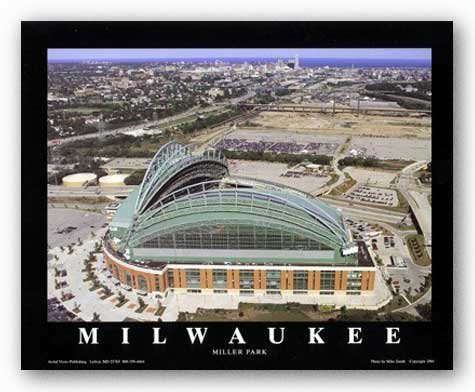Miller Park Wisconsin - Milwaukee, Wisconsin - Brewers at Miller Park by Mike Smith - 22 x 28 inches - Fine Art Print / Poster