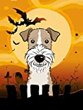 Caroline's Treasures BB1805GF Halloween Wire Haired Fox Terrier Garden Size Flag, Small, Multicolor Review
