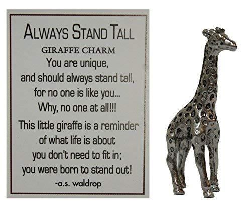 - Always Stand Tall Zinc Giraffe Pocket Charm with Story Card by Ganz