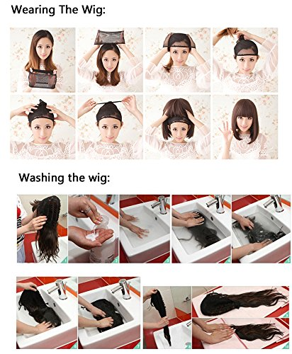 Icoser Anime Cosplay Party Wigs for Halloween Short Green Synthetic Hair 12'' 190g (Gray) by i-coser (Image #6)