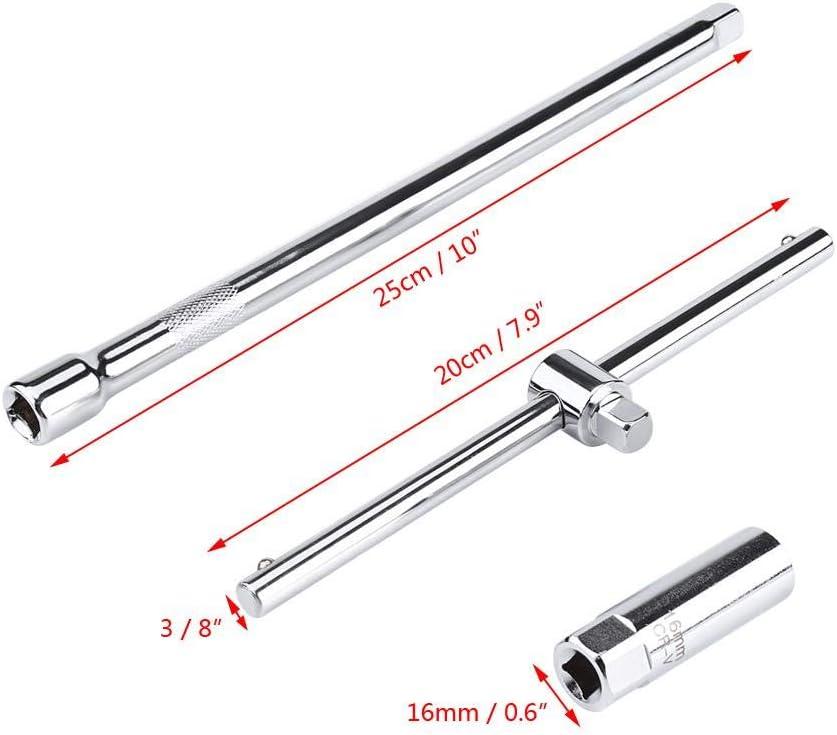 Universale Chiave a Brugola per Candele Set 16mm Impugnatura a T Candela a Scintilla Attrezzo di Rimozione per Strumenti di Installazione