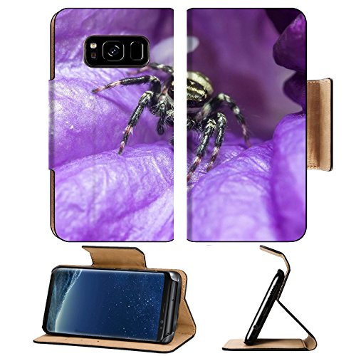 Liili Premium Samsung Galaxy S8 Flip Pu Leather Wallet Case IMAGE ID: 35129723 A small creature with eight thin legs Many spiders spin webs nets of thin threads to catch insects for food (Web Tattoo Belt)