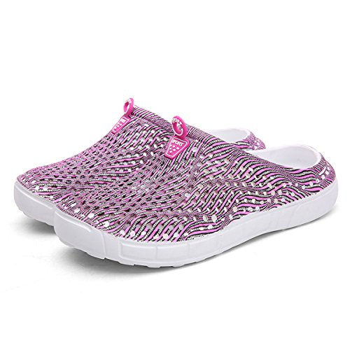 Summer Pink Water Light Shower Garden Women Beach Walking Shoes Badier Mesh Slippers Clog Sandals Soft ECw61Bq