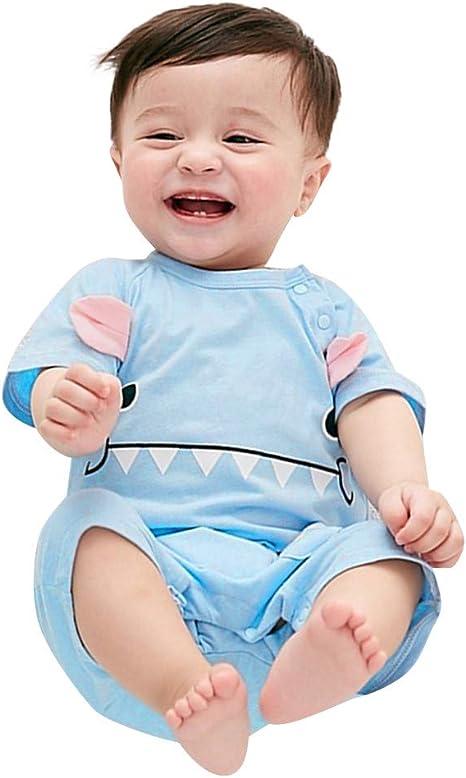 Berimaterry Bebes niños niñas Pijamas Ropa de Dormir Bodies Camiseta Bebe Monos Ropa Bebe Recien Nacido Bebé Historieta Mameluco Lindo Manga Corta Bodies Verano 0-24M Mono para bebé niños: Amazon.es: Ropa y